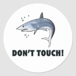 Mako Shark: Don't Touch! Classic Round Sticker