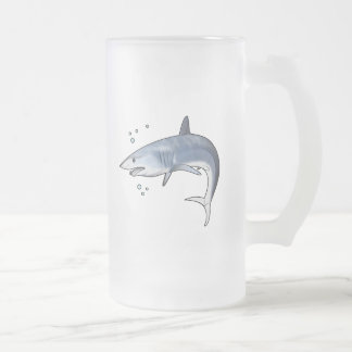 Mako Shark Frosted Glass Beer Mug