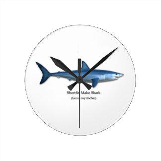 Mako Shark Round Clock