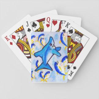 Mako Shark With Tuna School Playing Cards