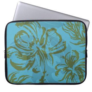 Makole Hibiscus Floral Hawaiian Neoprene Wetsuit Laptop Sleeve