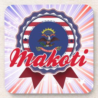 Makoti, ND Beverage Coasters