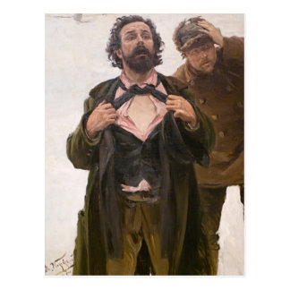 Makovsky- Study to Jan 9, 1905 on Vasilyevsky Postcard