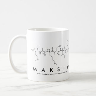 Maksim peptide name mug