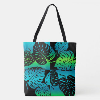 Makua Monstera Tropical Hawaiian Blend Beach Bag