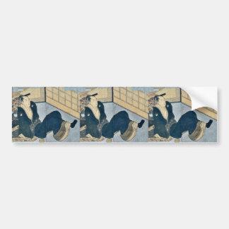 Makura ehon no iichib by Kitagawa, Utamaro Ukiyoe Car Bumper Sticker