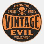 Mal 002B del vintage Etiquetas