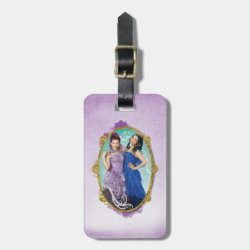 Small Luggage Tag with leather strap with Descendants Mal and Evie Together design