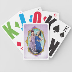 Playing Cards with Descendants Mal and Evie Together design