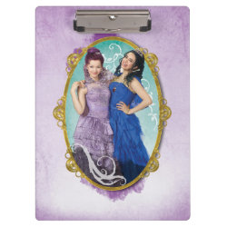 Clipboard with Descendants Mal and Evie Together design