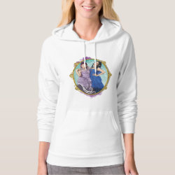 Women's American Apparel California Fleece Pullover Hoodie with Descendants Mal and Evie Together design