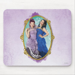 Mousepad with Descendants Mal and Evie Together design