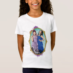 Girls' Fine Jersey T-Shirt with Descendants Mal and Evie Together design