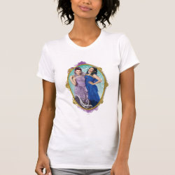 Women's American Apparel Fine Jersey Short Sleeve T-Shirt with Descendants Mal and Evie Together design