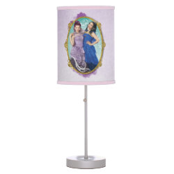 Table Lamp with Descendants Mal and Evie Together design