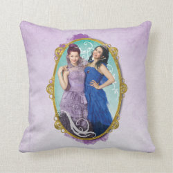 Descendants Mal and Evie Together Cotton Throw Pillow