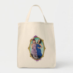 Grocery Tote with Descendants Mal and Evie Together design