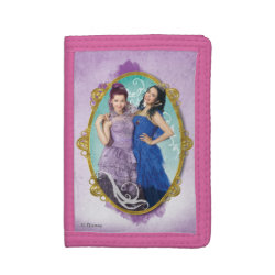 TriFold Nylon Wallet with Descendants Mal and Evie Together design