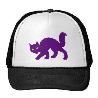 Mal asustadizo de Halloween del gato fantasmagóric Gorras De Camionero