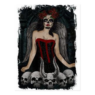 Mal atractivo del demonio del chica del cráneo postal