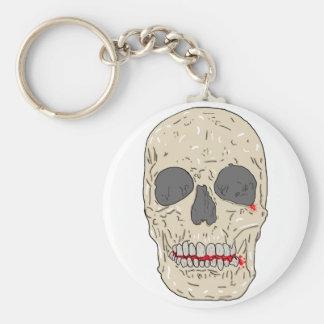 Mal, bloody y cráneo devastado llavero redondo tipo pin