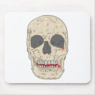 Mal, bloody y cráneo devastado mouse pad