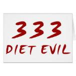 Mal de 333 dietas felicitación