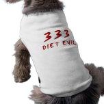 Mal de 333 dietas prenda mascota