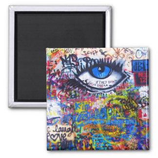 Mal de ojo azul de la pintada imán para frigorifico
