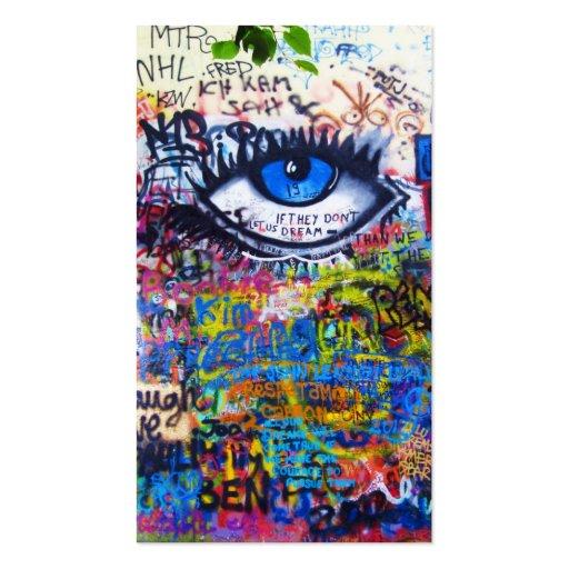 Mal de ojo azul de la pintada tarjeta de visita