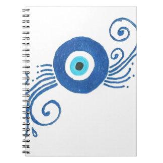mal de ojo azul redondo libreta espiral