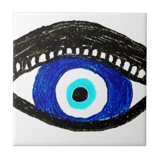 Mal de ojo azulejo cuadrado pequeño