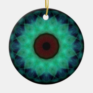 Mal de ojo del trullo de la monstruosidad adorno redondo de cerámica
