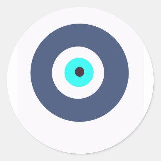 Mal de ojo etiquetas redondas