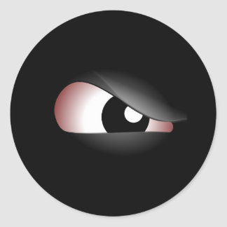 Mal de ojo pegatina redonda