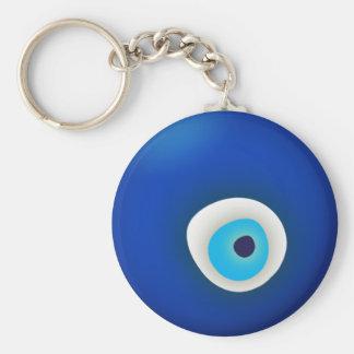Mal de ojo, símbolo de la protección llavero redondo tipo pin