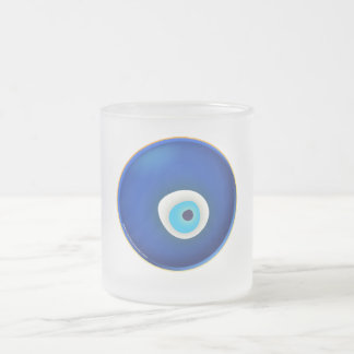 Mal de ojo, símbolo de la protección taza cristal mate