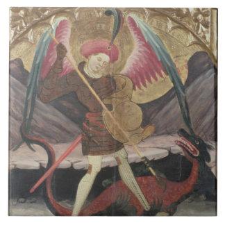 Mal de victoria de San Miguel, c.1480 (tempera en  Azulejo Cuadrado Grande