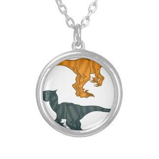 Mal del dinosaurio colgante redondo