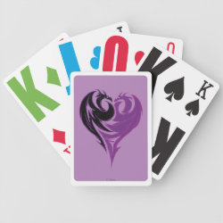 Playing Cards with Mal Dragon Heart Logo design