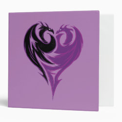 Avery Signature 1' Binder with Mal Dragon Heart Logo design