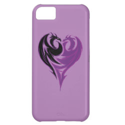 Case-Mate Barely There iPhone 5C Case with Mal Dragon Heart Logo design
