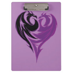 Clipboard with Mal Dragon Heart Logo design