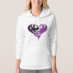 Women's American Apparel California Fleece Pullover Hoodie with Mal Dragon Heart Logo design