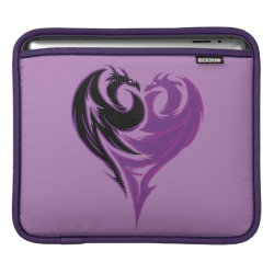 iPad Sleeve with Mal Dragon Heart Logo design