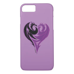 Case-Mate Barely There iPhone 7 Case with Mal Dragon Heart Logo design