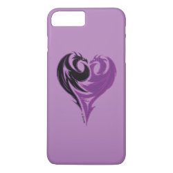 Case-Mate Tough iPhone 7 Plus Case with Mal Dragon Heart Logo design