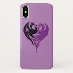 Case-Mate Barely There iPhone X Case with Mal Dragon Heart Logo design