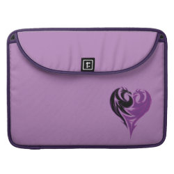Macbook Pro 15' Flap Sleeve with Mal Dragon Heart Logo design