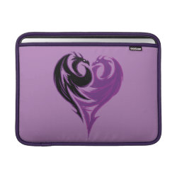 Macbook Air Sleeve with Mal Dragon Heart Logo design